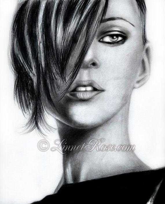 Kate Moss portrait I by LinnetRose