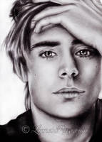 Zac Efron portrait. by LinnetRose
