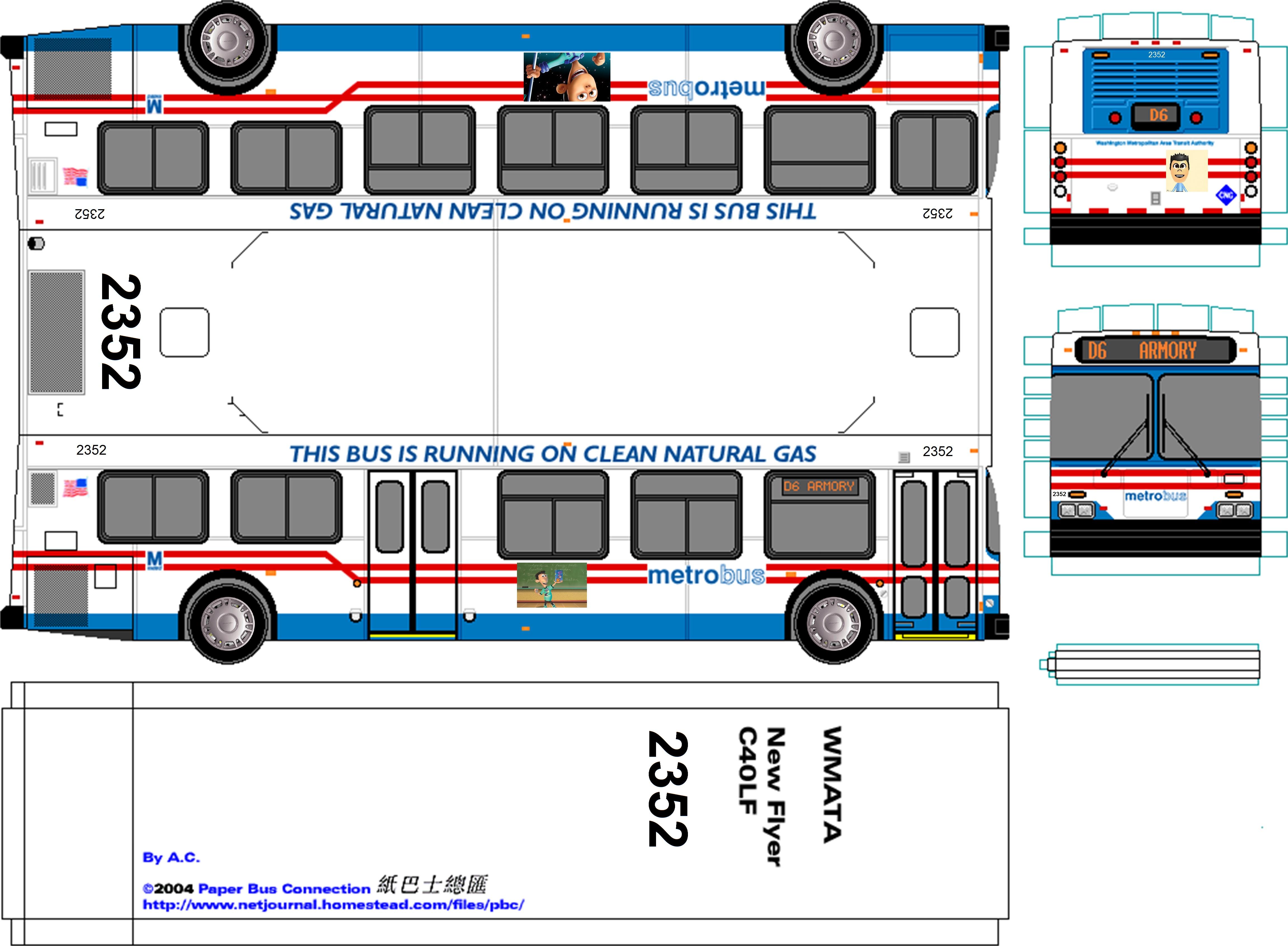 Wmata 2352 Paper Bus By Robbieraeful On Deviantart