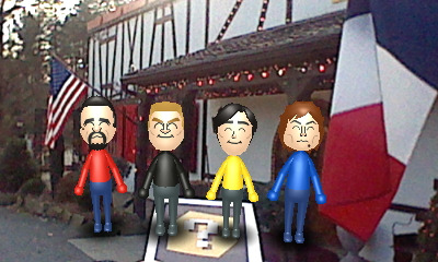Master Miis In Front Of The French Restaurant By