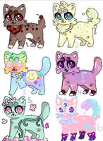 Cat Adopts Setprice 2/6 Open *lowered prices* by RavensRamen
