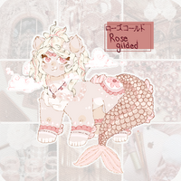 Rose Gilded Mermyxn Adopt Auction Closed by RavensRamen