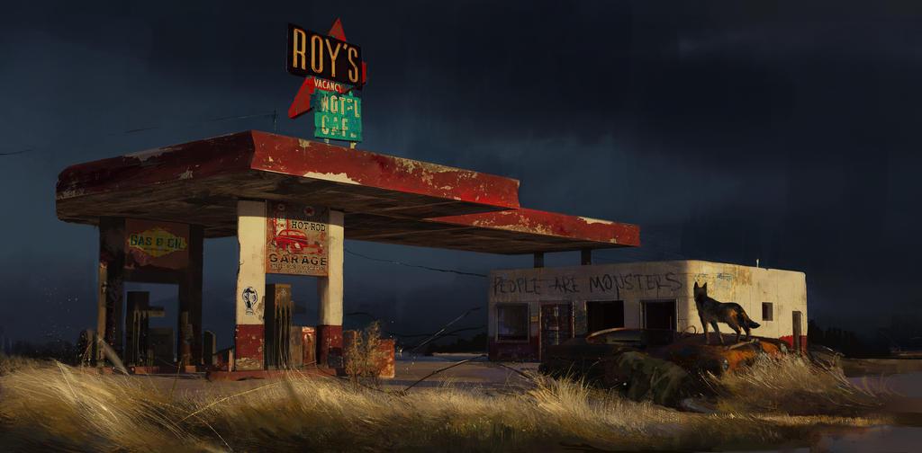 Gas station by SunnyJu