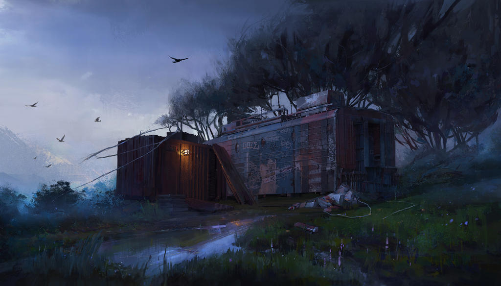 Frozen nightfall by SunnyJu