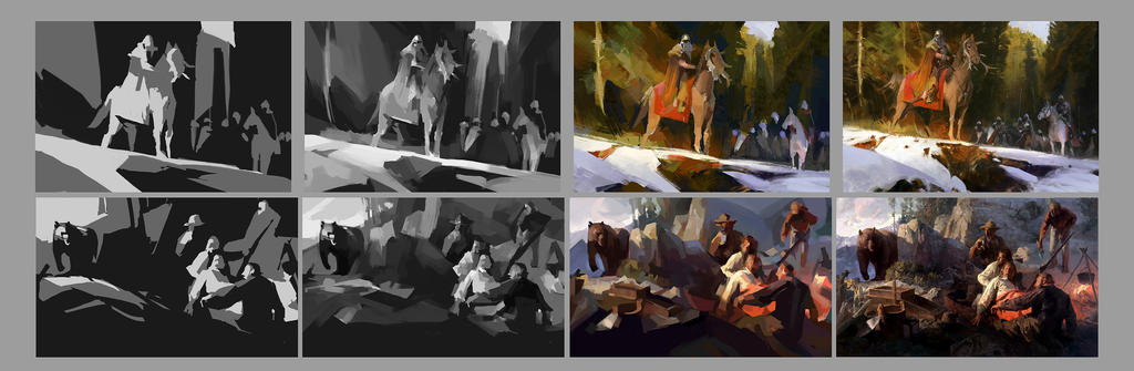 Composition studies by SunnyJu