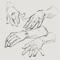 Hands drawing by SunnyJu
