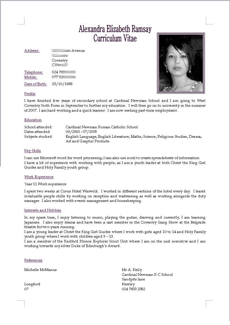 cv resume by akugouhime - Cv Or Resume