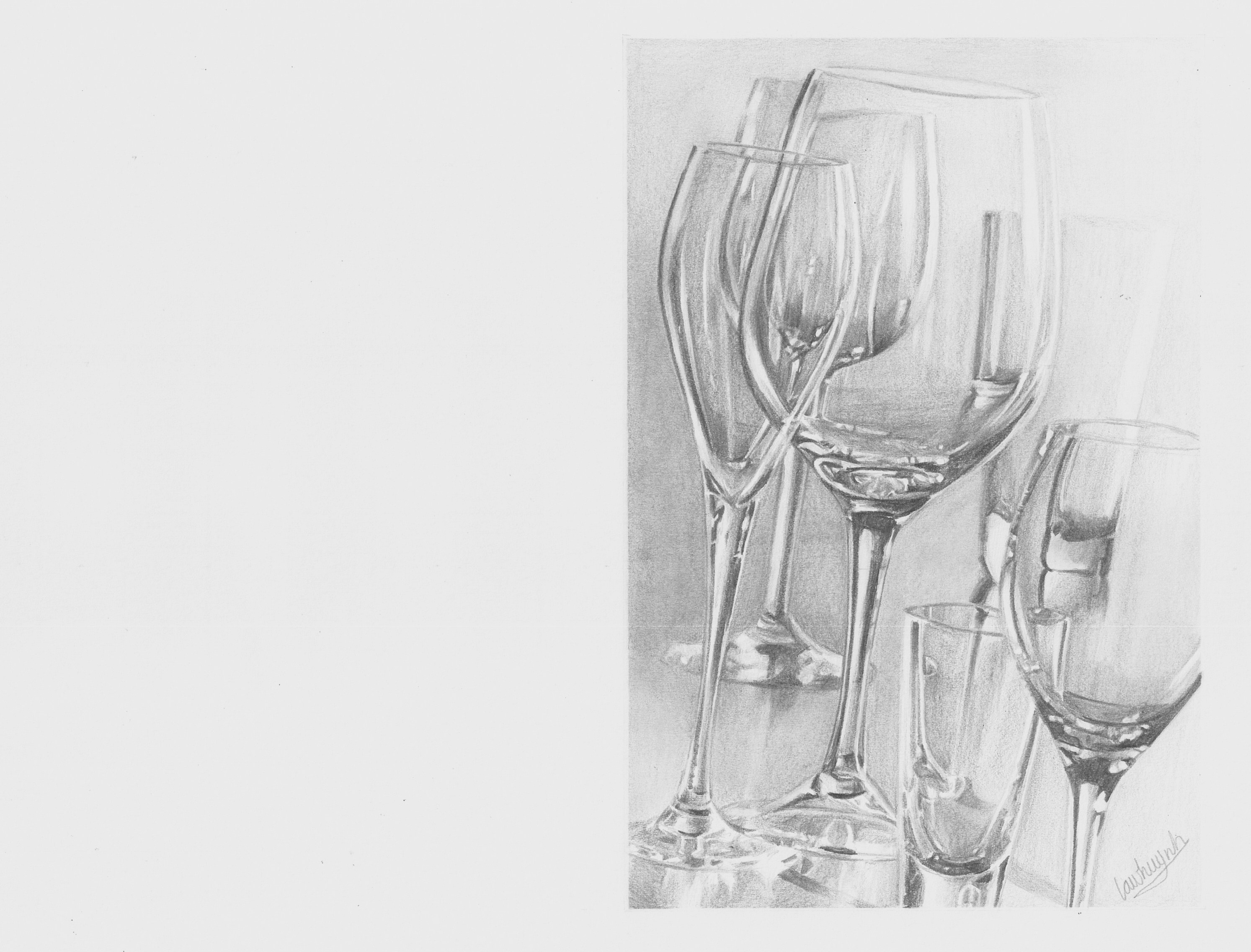 Glass of Wine Drawing images