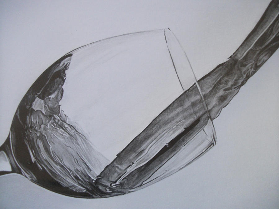 Wine glass by law3208 on deviantart for How to draw on wine glasses