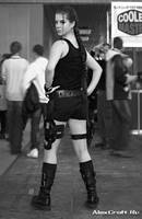 Lara Croft  black-and-white by Anastasya01