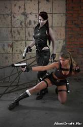 Lara VS Doppelganger by Anastasya01