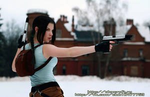 Lara Croft cosplay-croft manor by Anastasya01