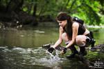 Lara Croft Underworld-water in jungle