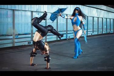 Kitana VS Sonya Blade by Anastasya01