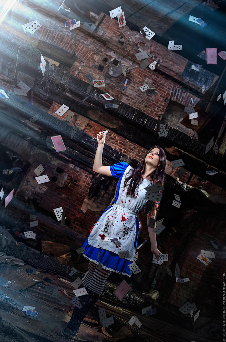 Alice Madness -Card castles in the sky by Anastasya01