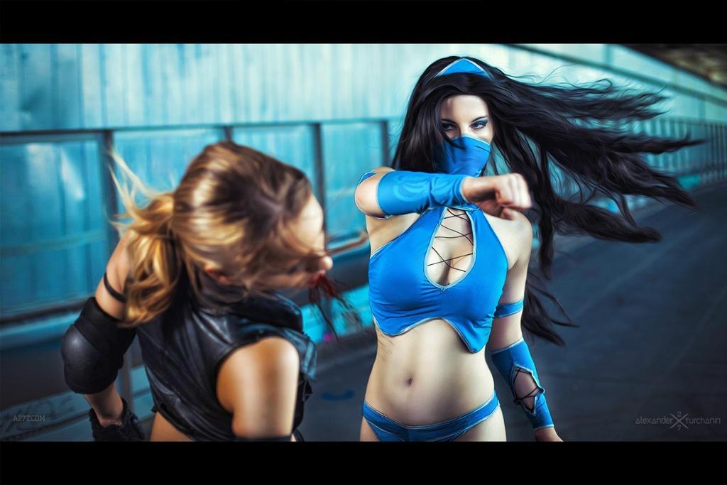 Mortal Kombat-Kitana VS Sonya by Anastasya01