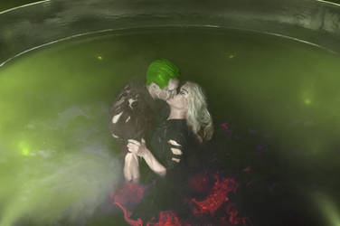 Harley Quinn and Joker - chemical bath by Anastasya01