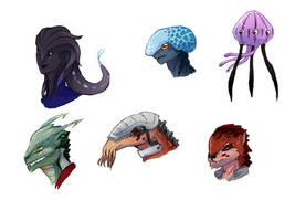 Alien concepts by Ansemaru