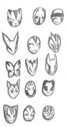 ANBU Masks by Ansemaru