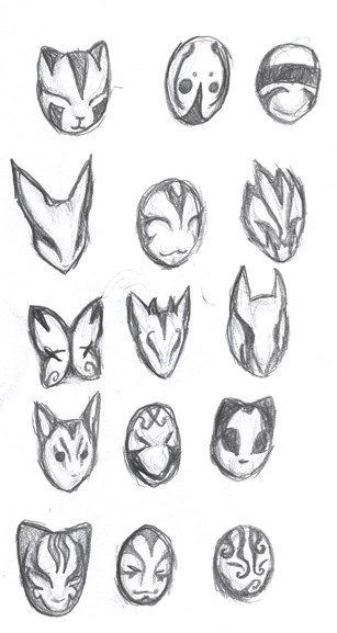 ANBU Masks by An...Cool Anbu Mask Designs