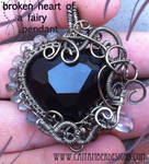 Broken Heart of a Fairy Pendant