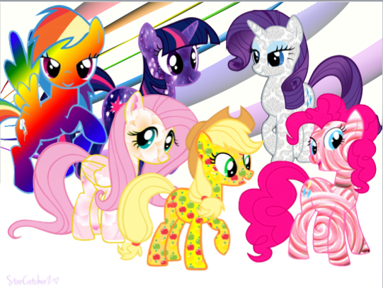 Mane Six: Super Style Background :D by StarCatcherZ