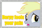 Derpy Feels Your Pain Pony Stamp by StarCatcherZ