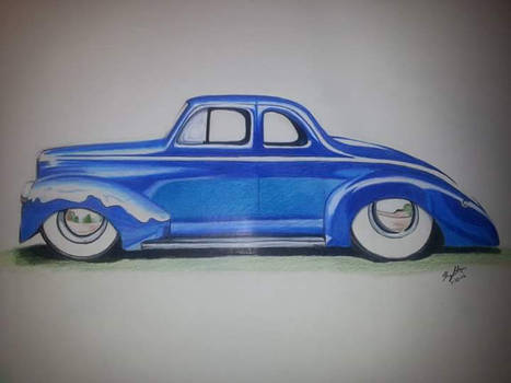 1940 ford coupe practice sketch.