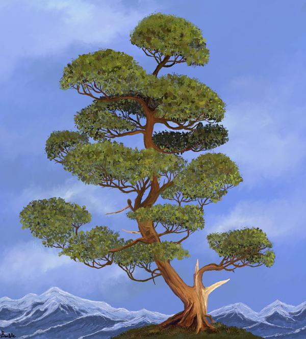 Juniper tree by Bumblewales