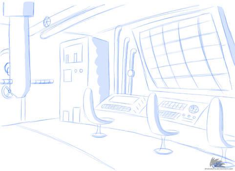 Concept Setting - Submarine controle room