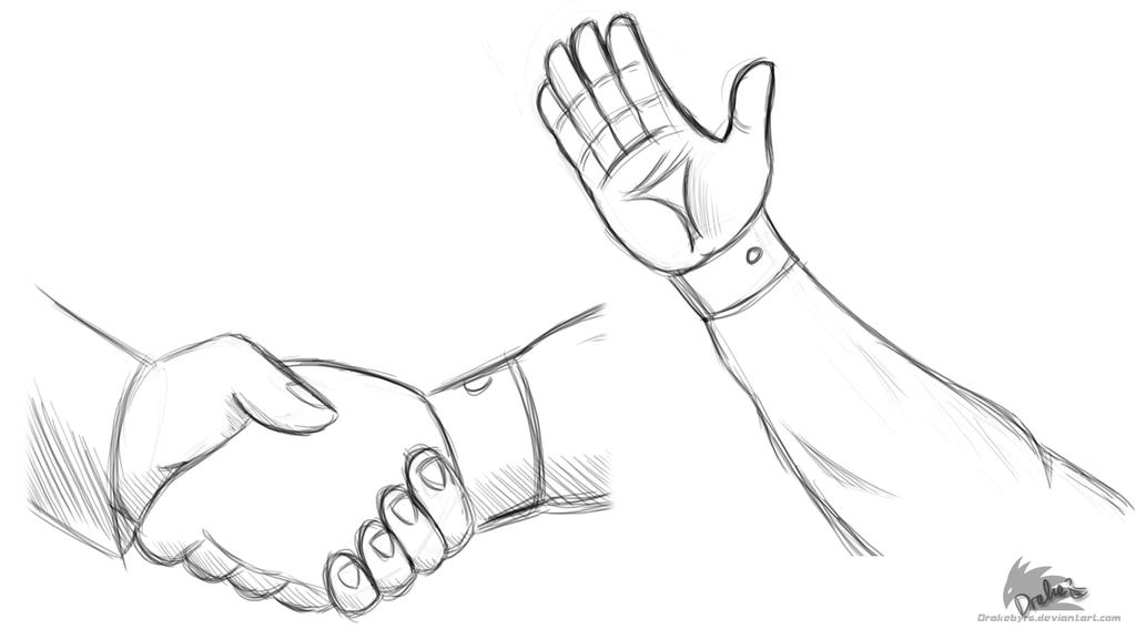 how to draw an arm and hand