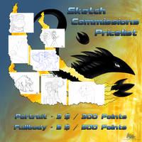 Sketch commission pricelist