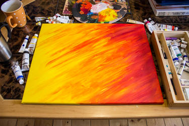 Acrylpainting - Flame of Love #1
