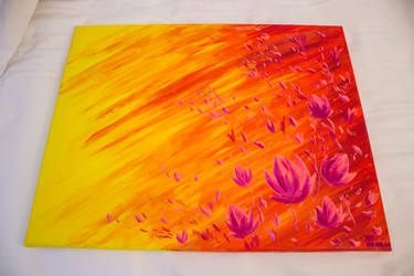 Acrylpainting - Flame of Love #2 by DrakebyRS