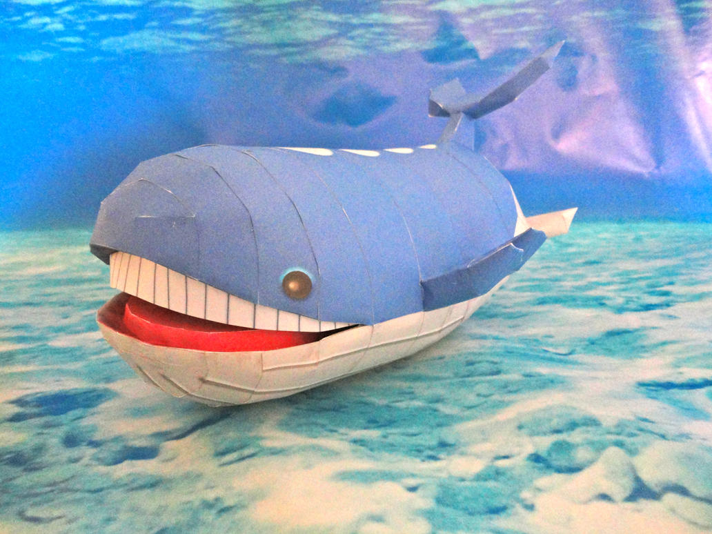 Wailord Papercraft by studioofmm