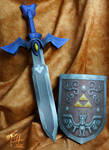 Wind Waker Master Sword and Shield Papercrafts