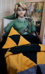 A Link Approved Pillow and Blanket