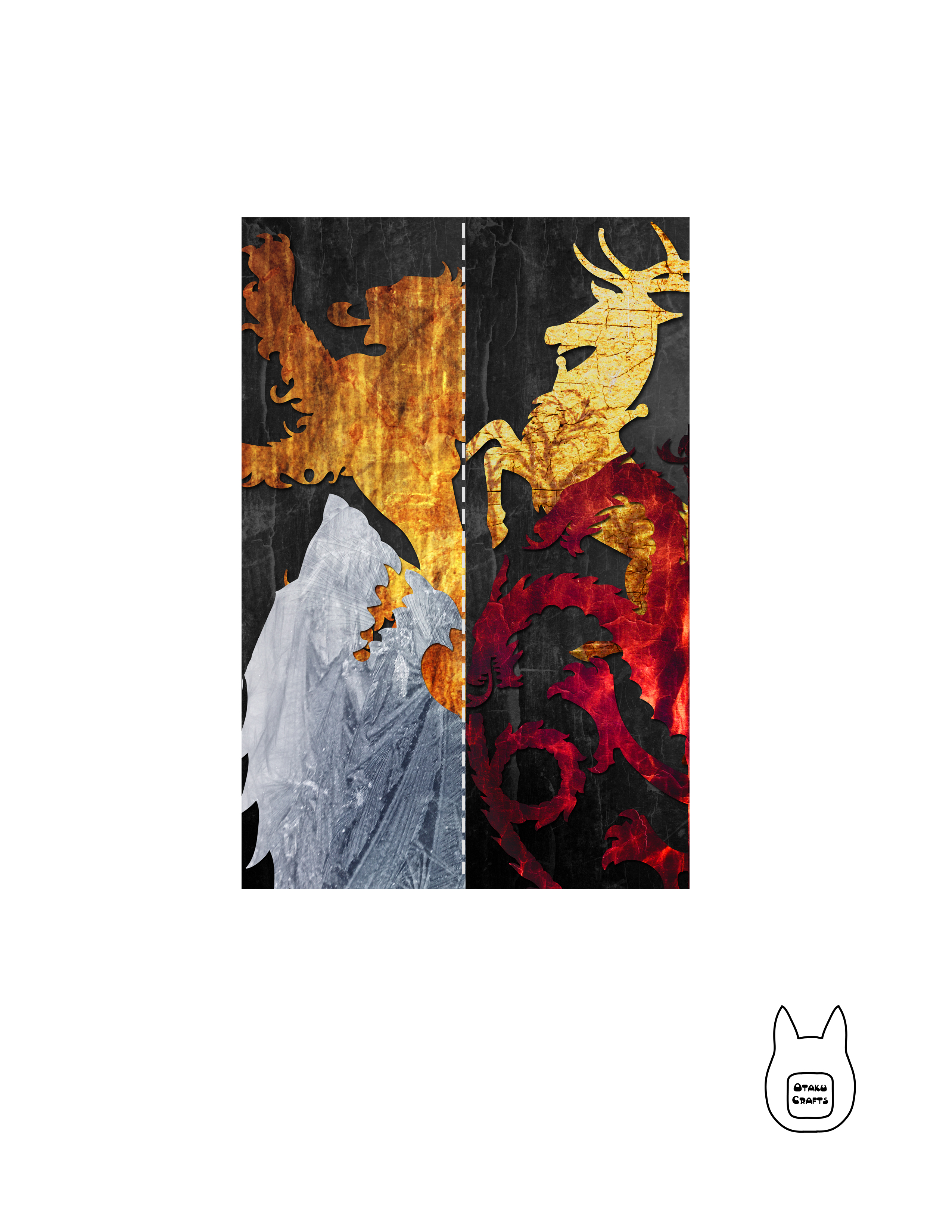 Otaku Crafts Game Of Thrones Bookmarks
