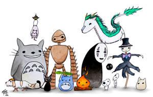 Ghibli Friends by studioofmm