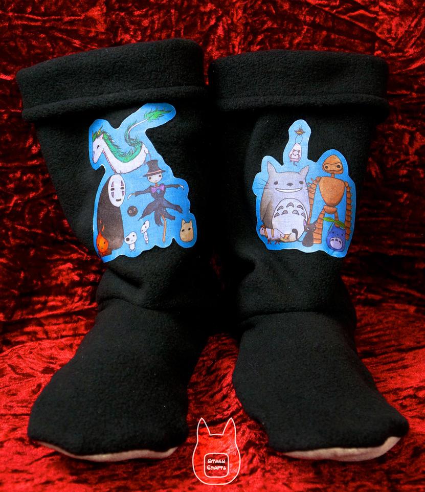 Studio Ghibli Slippers (Tutorial) by studioofmm