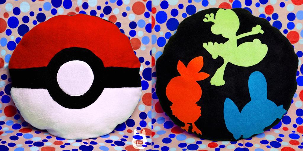 Pokemon Ruby + Sapphire Pillow (Tutorial) by studioofmm