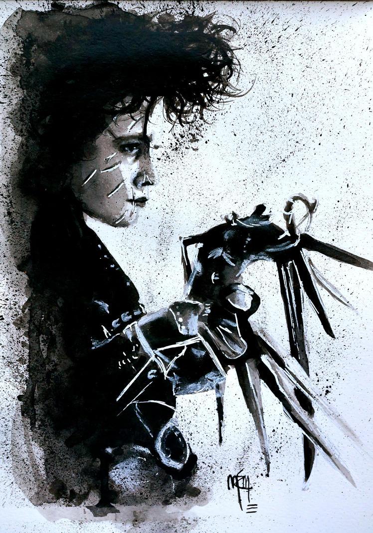 Scissorhands Splatter by studioofmm