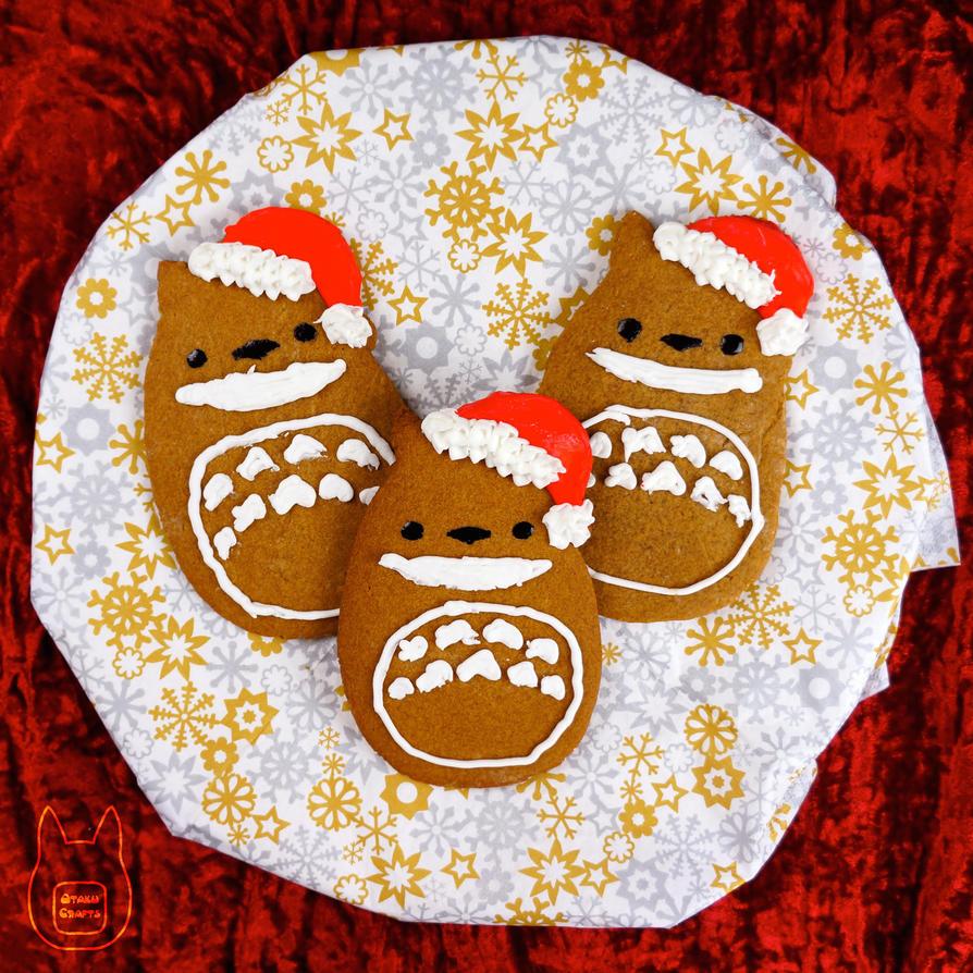 Totoro Gingerbread Cookies (Tutorial) by studioofmm