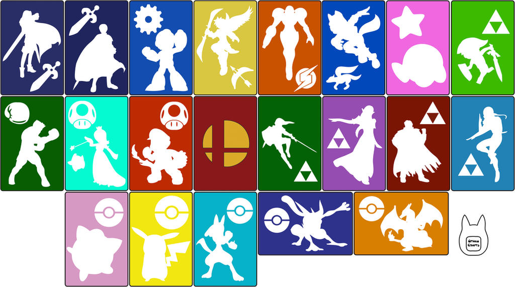 Smash Bros. 3DS/ 3DS XL Pouch Templates by studioofmm