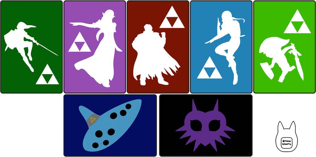 Zelda 3DS/ 3DS XL Sleeve Templates by studioofmm