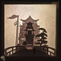 Spirited Away Bathhouse Paper Lightbox (Tutorial) by studioofmm