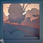 Howl's Moving Castle Paper Lightbox (Tutorial)