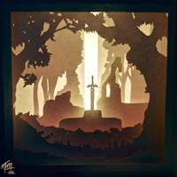 Master Sword Paper Lightbox (Tutorial)