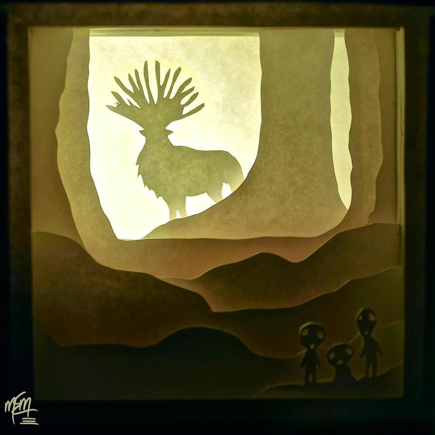 Forest Spirit Paper Lightbox (Tutorial) by studioofmm