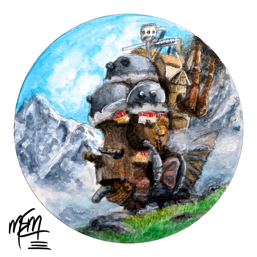 Howl's Moving Castle (Circle Scenery) by studioofmm
